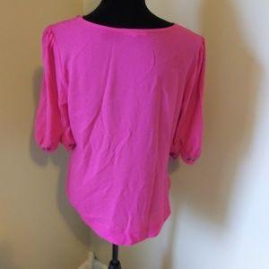41 Hawthorn Tops - 41 Hawthorn Pink Bronze Button Shirt